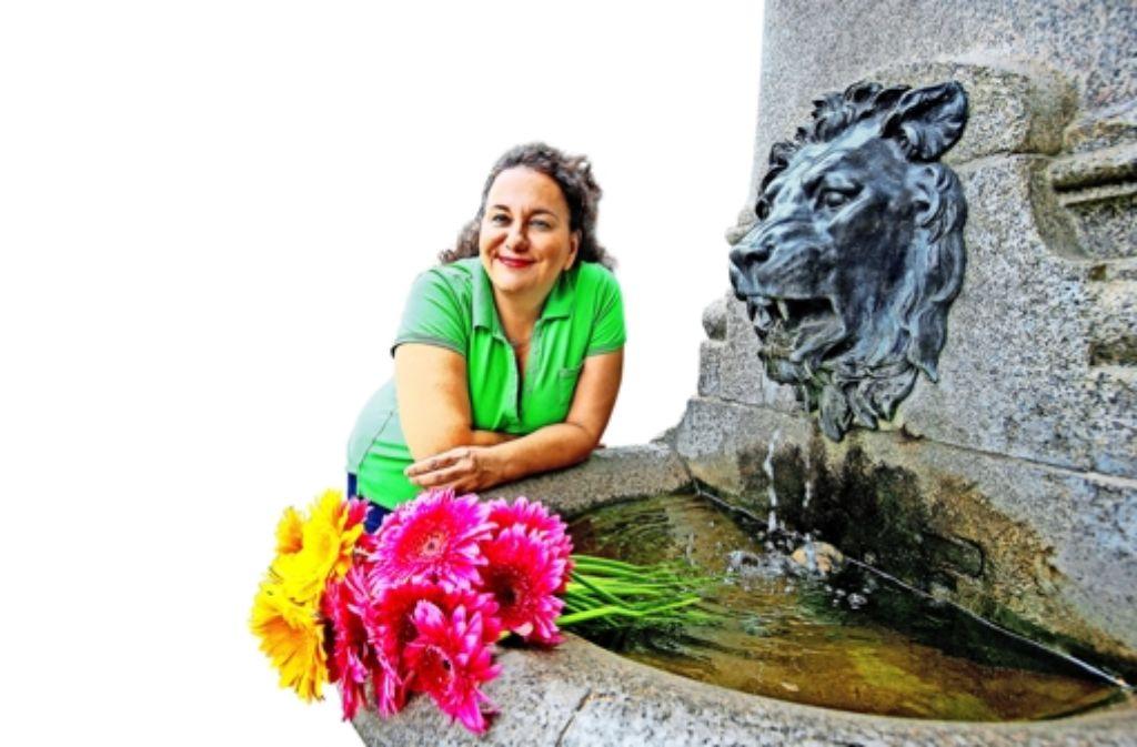 Kalliopi Bamiatzi will einen Blumen- und Kräutermarkt etablieren. Foto: Rudel