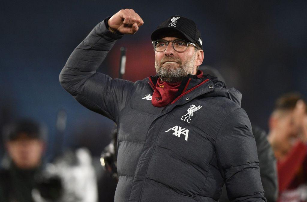 Liverpool-Trainer Jürgen Klopp hat allen Grund, stolz auf seine Mannschaft zu sein. Foto: AFP/Oli Scarff
