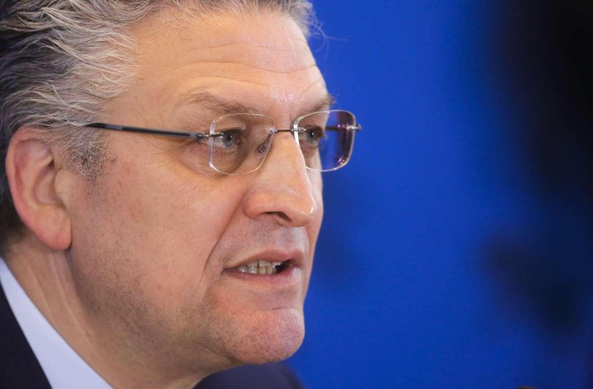 RKI-Präsident Lothar H. Wieler (Archivbild) Foto: dpa/Markus Schreiber