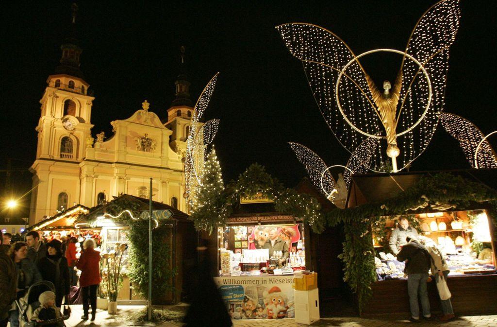 Der Barock-Weihnachtsmarkt in Ludwigsburg hat vieles, was ihn einzigartig macht. Wir haben die Fakten dazu in unserer Bildergalerie gesammelt. Foto: AP