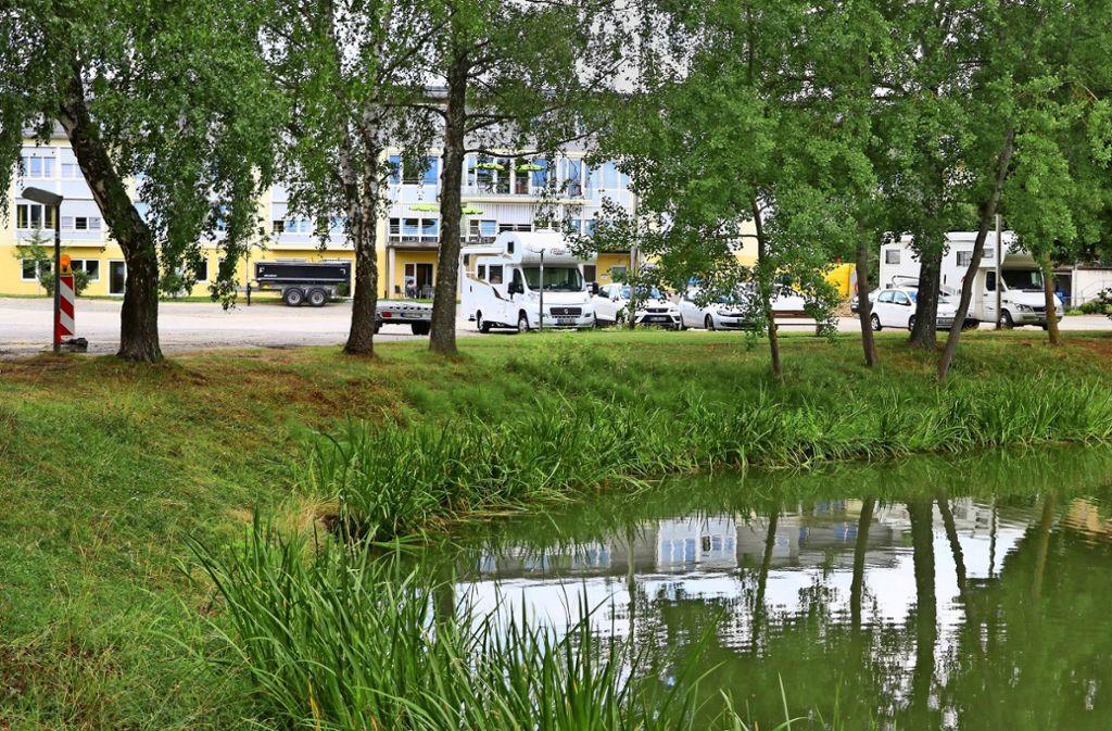 Ein schönes Plätzchen: An den Seewiesen soll das Bürgerhaus gebaut werden. Foto: factum/