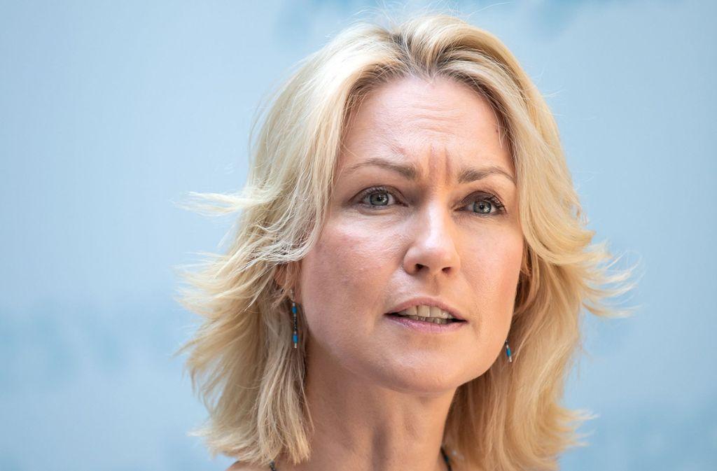 Manuela Schwesig  legt ihr Amt als kommissarische SPD-Vorsitzende nieder. Foto: dpa