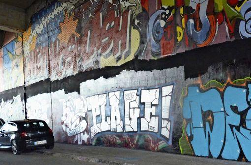 Für die Sprayer-Szene ist die Wand  nicht genug