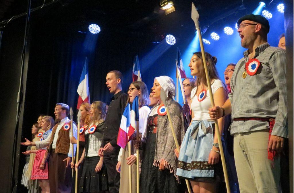 "Chormäleon aus Stuttgart mit einer Szene aus ""Les Misérables"" Foto: Freitag"
