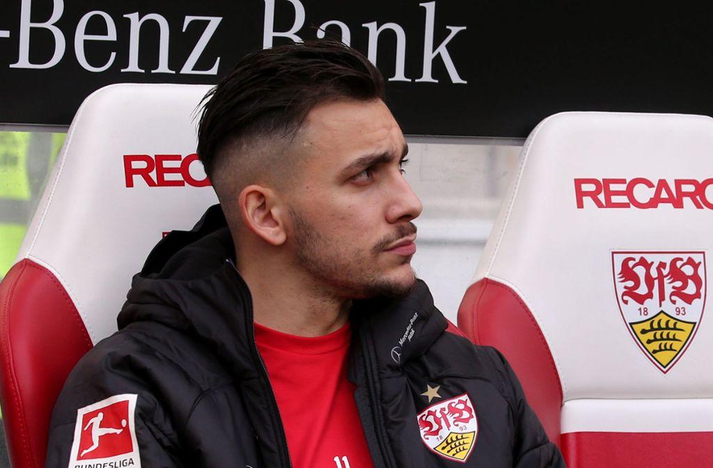 Zuletzt meist auf der Bank, gegen 1899 Hoffenheim nicht im Kader des VfB Stuttgart: Anastasios Donis. Foto: Baumann