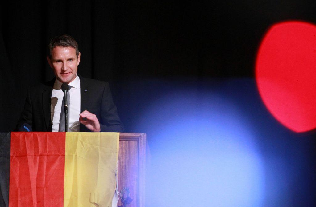 Der AfD-Abgeordnete Björn Höcke redet sich ins Zwielicht. Foto: AFP