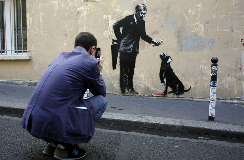 Eines von Banksys Street-Art-Motiven. Foto:
