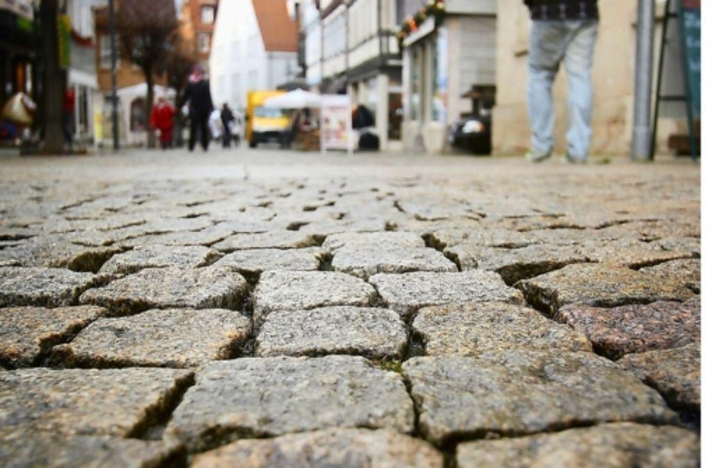 Ganz schön holperig: die Altstadt von Vaihingen/Enz Foto: factum/Granville
