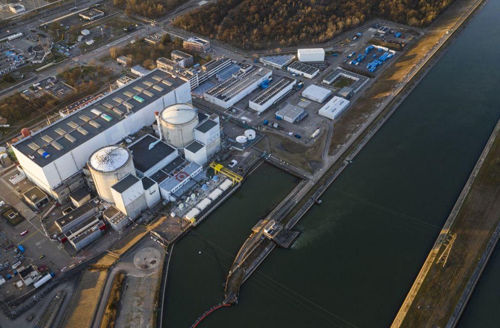 Ein Luftbild des umstrittenen Kernkraftwerks Fessenheim. Foto: AFP/Sebastien Bozon