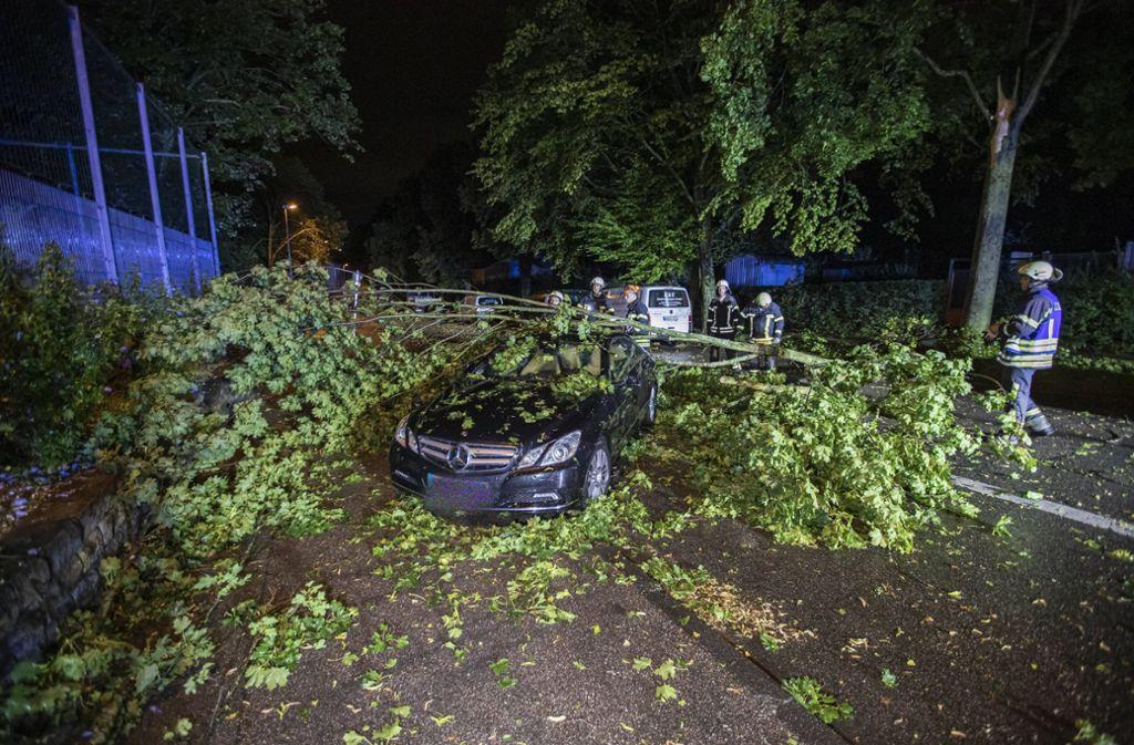 Unwetter richteten in der Region Stuttgart Schäden an. Foto: 7aktuell.de/Simon Adomat