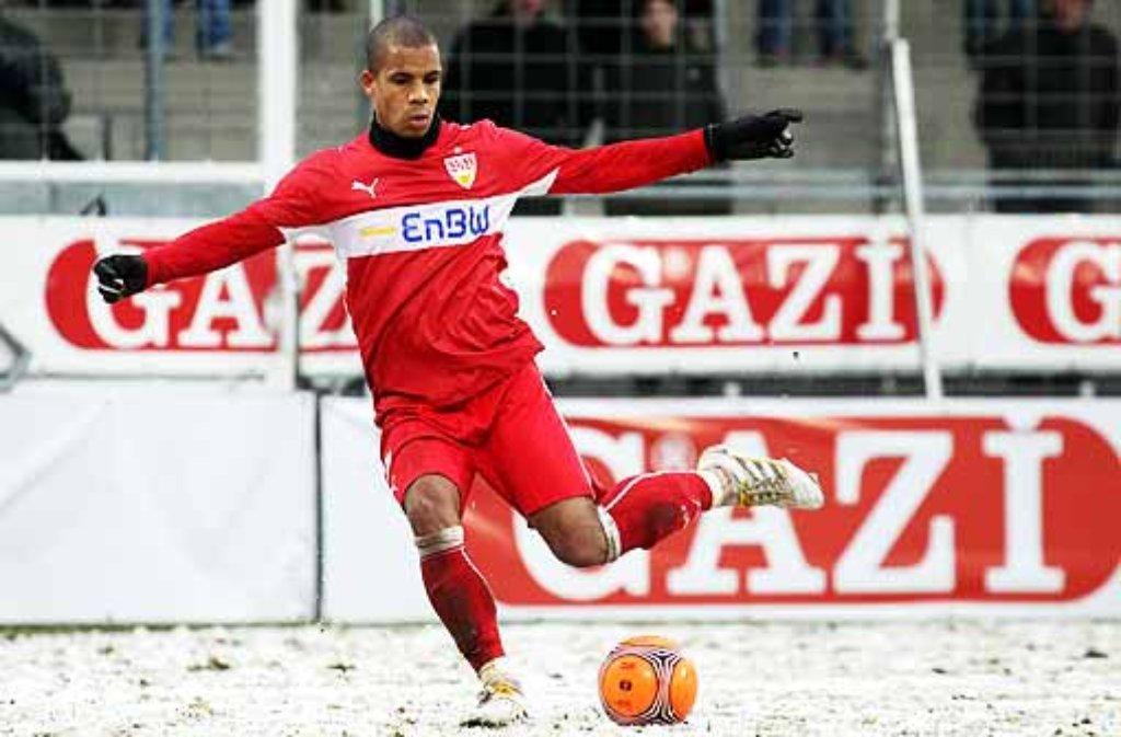 Seit zwei Jahren spielt der VfB II um Daniel Didavi im Gazi-Stadion auf der Waldau. Nächste Saison ist der Milchproduktehersteller Sponsor der Profis. Foto: Baumann