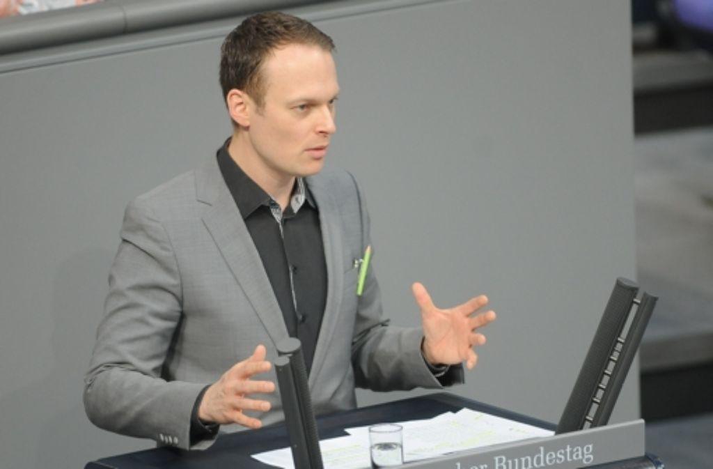 Kai Gehring, hochschulpolitischer Sprecher der Grünen im Bundestag. Die Grünen sehen die Bafög-Reform der Regierung kritisch. (Archivfoto) Foto: dpa