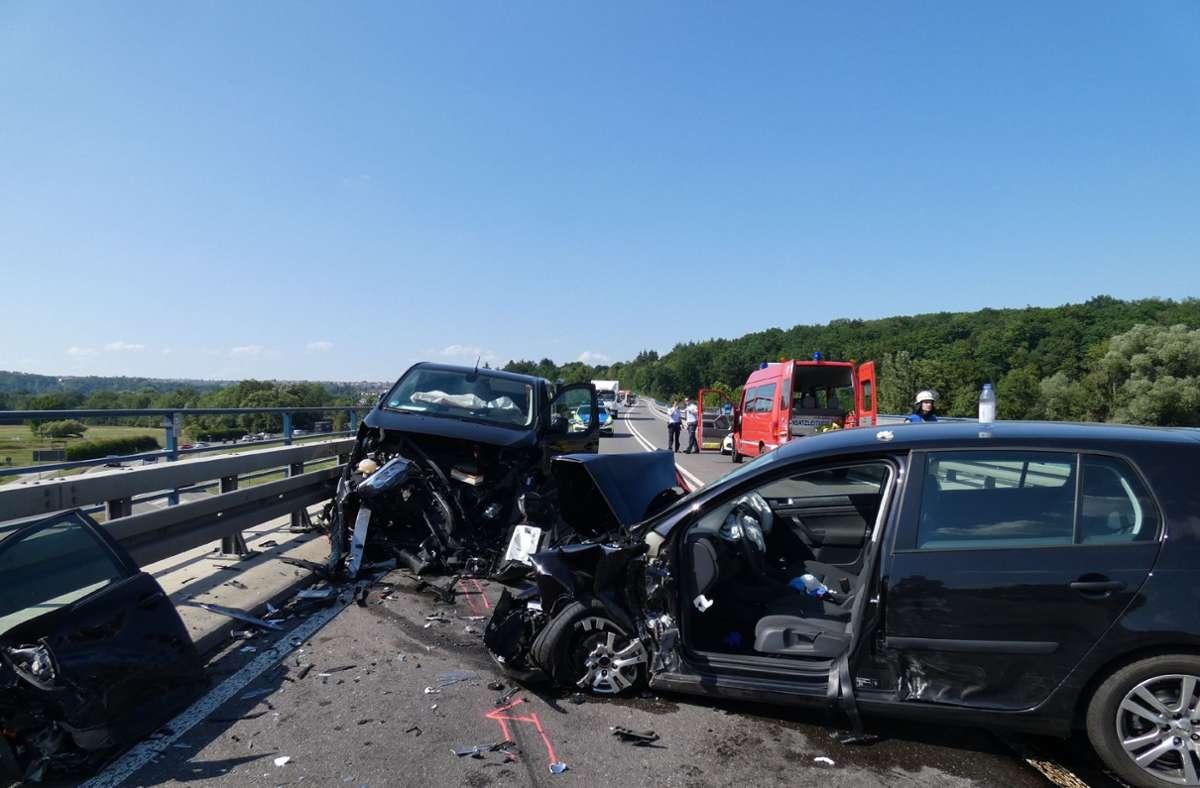 Am Freitagnachmittag hat sich ein schwerer Verkehrsunfall ereignet. Foto: /Foto: SGMG / Kullen
