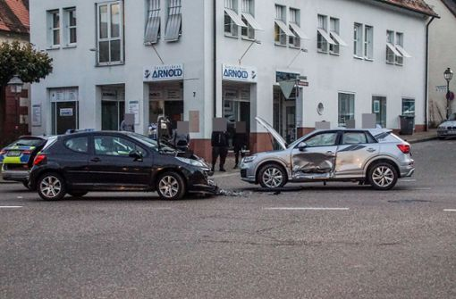 Leicht verletzt nach Vorfahrtsunfall