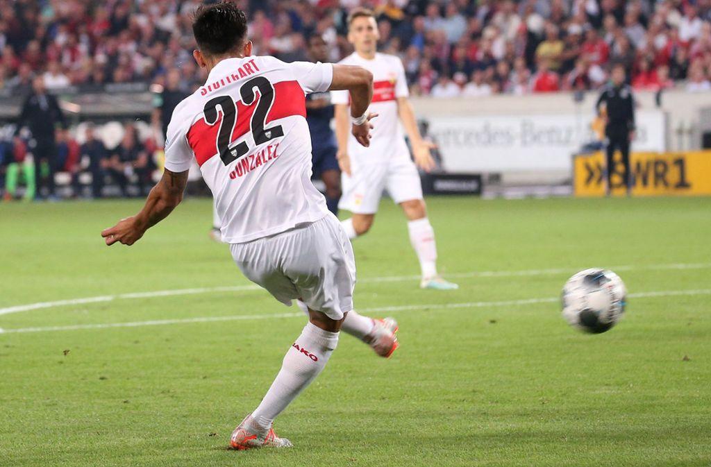 VfB-Stürmer Nicolas Gonzalez erzielte einen Treffer für Argentiniens U-23-Auswahl. Foto: Baumann