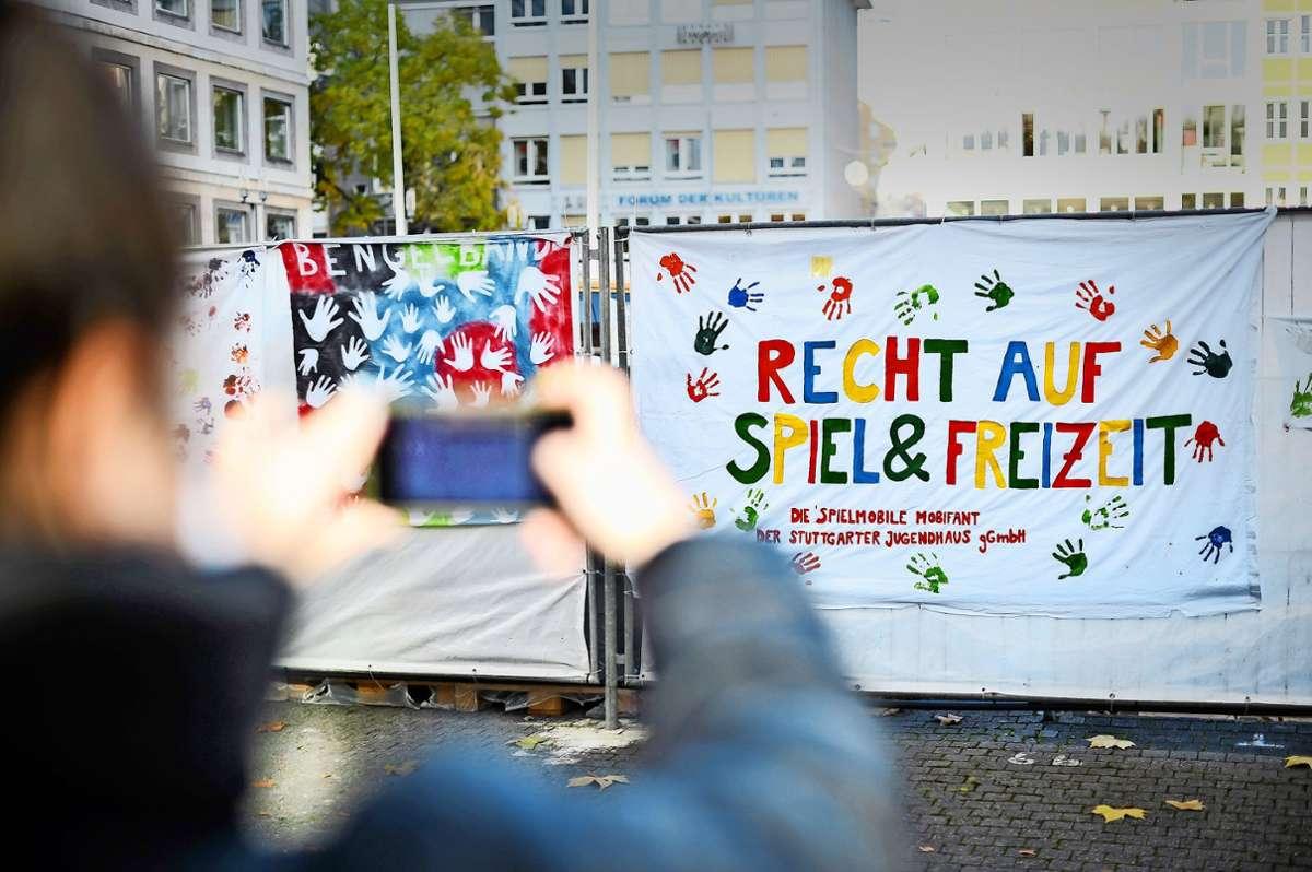 Eine klare Botschaft. Foto: Lichtgut/Max Kovalenko