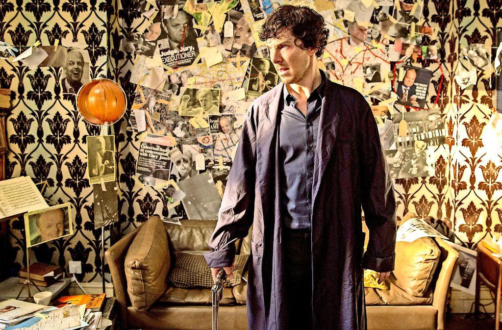 """Blitzgescheit ist der von Benedict Cumberbatch gespielte Titelheld von """"Sherlock"""" fraglos – aber eben auch ein unberechenbarer Sonderling. Foto: ARD"""