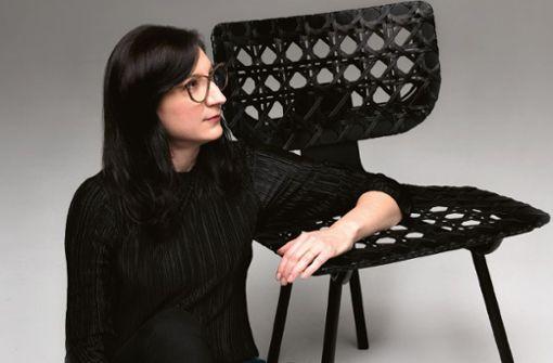 Tilla Goldberg mit Ihrem Entwurf AËRIAS.