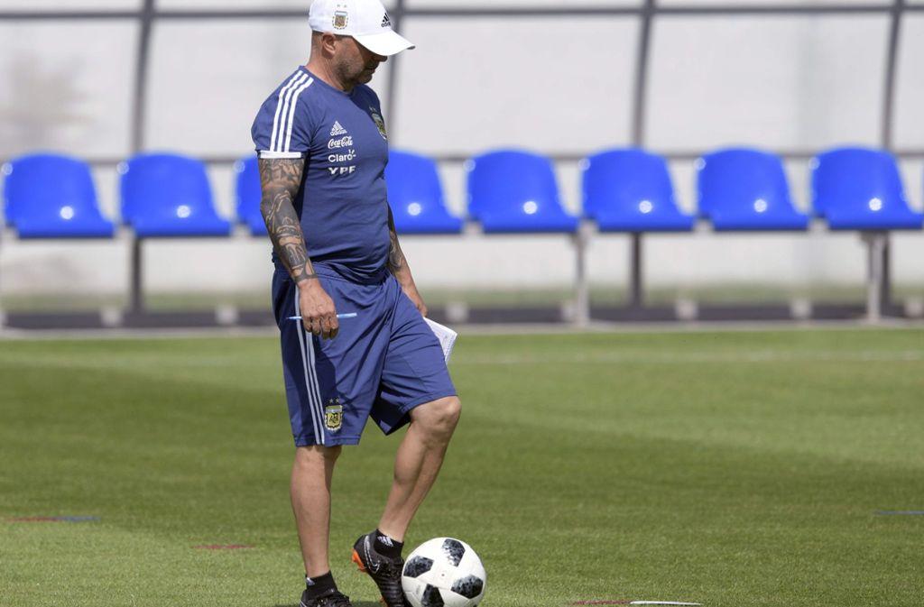 Hat Jorge Sampaoli noch die Kontrolle über sein Team? Foto: AFP