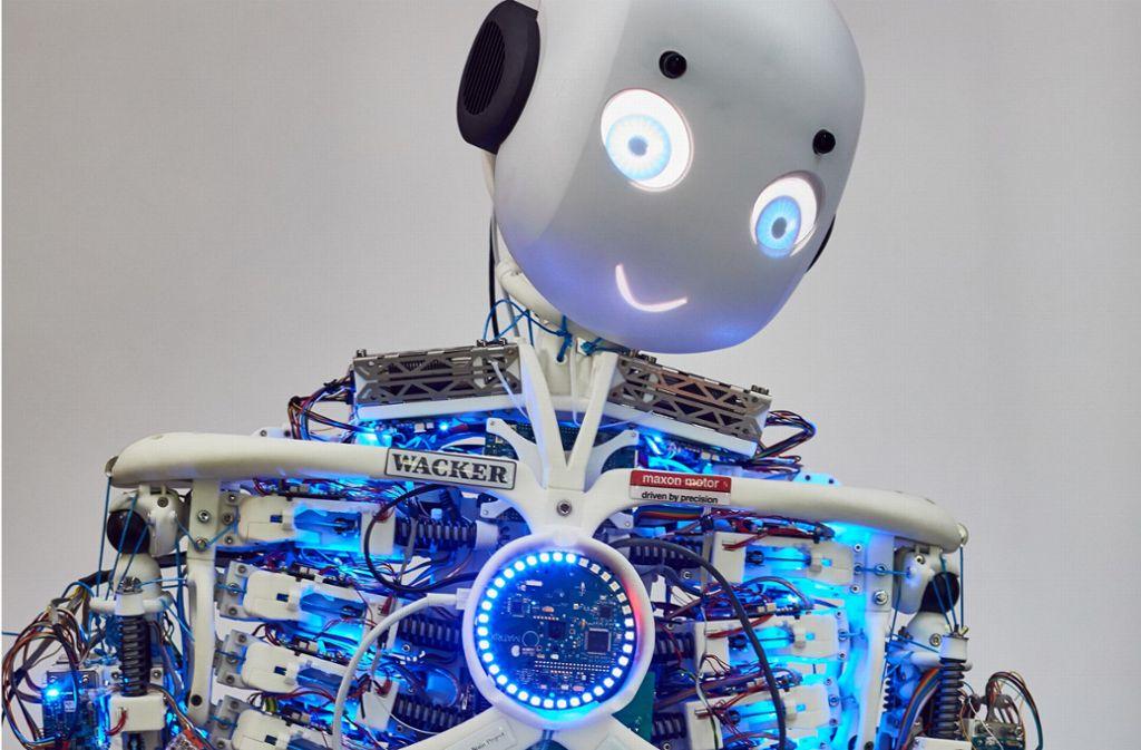 Ein Roboter mit Knochen, Muskeln und Sehnen? Ein Beispiel für  die Verbindung von Biologie und Technik. Foto: : Roboy Project/Andra Photography