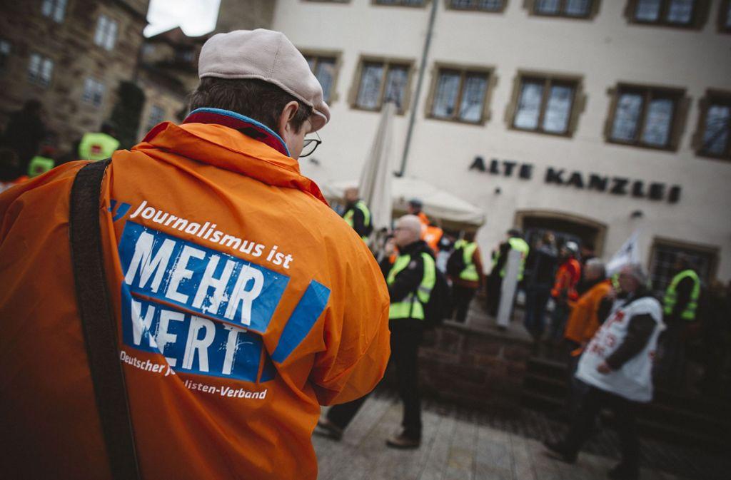 In zahlreichen Redaktionen der Republik (wie hier in Stuttgart) war es in den vergangenen Monaten zu Streiks von Tageszeitungsjournalisten gekommen. Foto: Lichtgut/Leif Piechowski