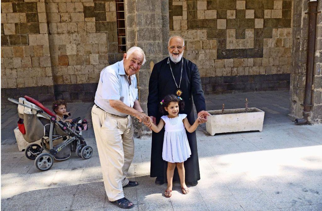 Franz Pitzal beim Patriarchen in Syrien. Foto: privat