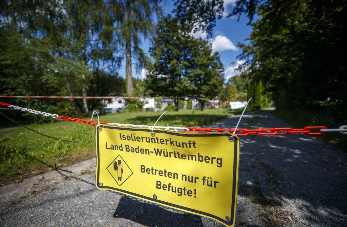 Das Gelände in Sechselberg steht nicht mehr als Isolierunterkunft zur Verfügung. Foto: Gottfried Stoppel