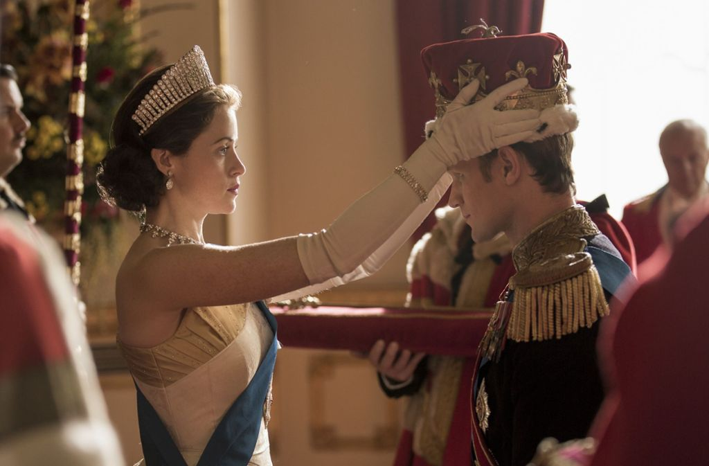 Zwischen Krone und Leben: Claire Foy als Queen Elizabeth II und Matt Smith als Prinz Philip Foto: Netflix