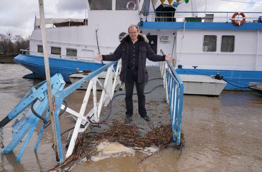 Der neue Neckar-Käpt'n bangt um seine Schiffe