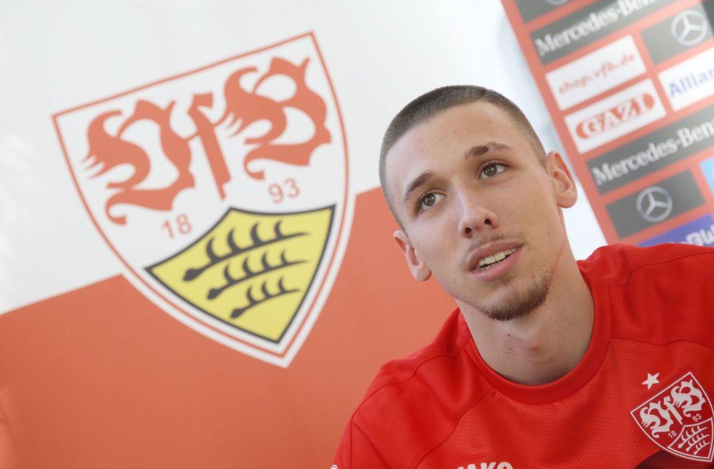 Der Neuzugang des VfB Stuttgart, Darko Churlinov Foto: Pressefoto Baumann/Hansjürgen Britsch
