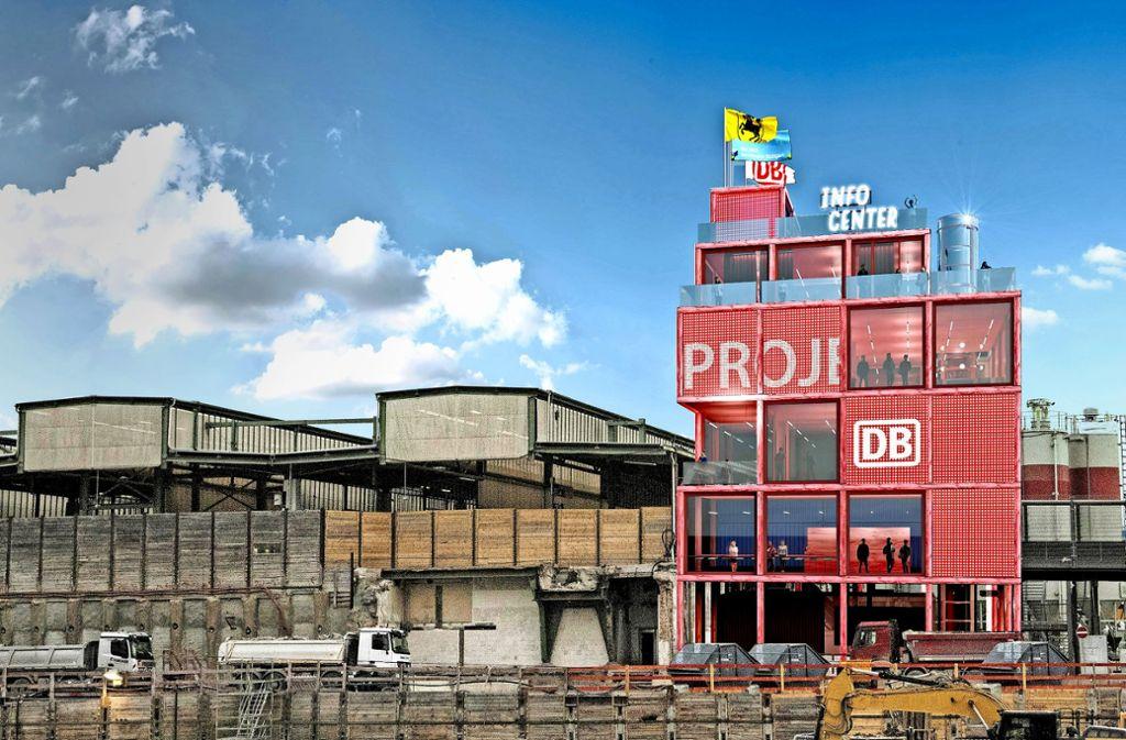 So könnte der Informationsturm Stuttgart aussehen. Foto: Heller Designstudio