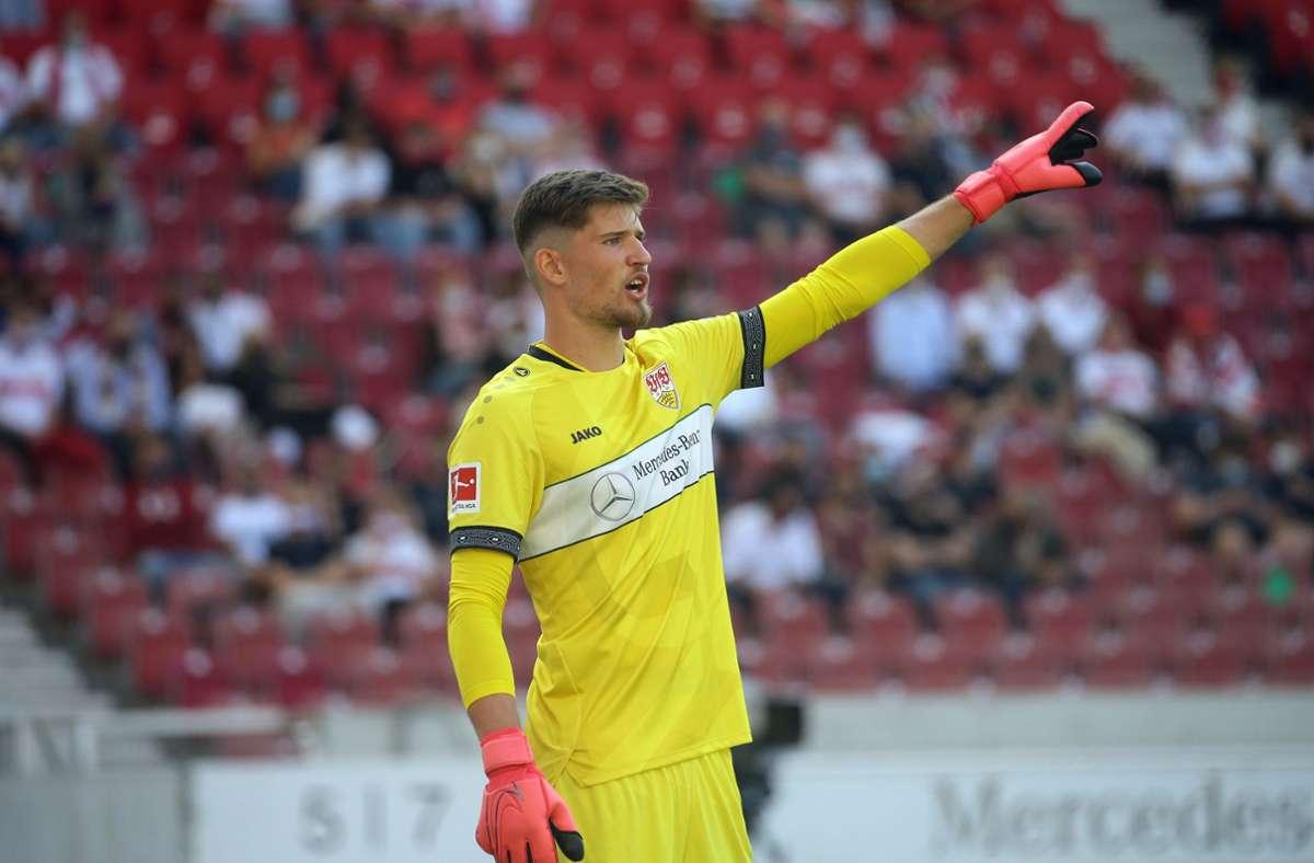 Gregor Kobel steht wohl vor seinem Comeback im Kasten der Stuttgarter. Foto: Pressefoto Baumann
