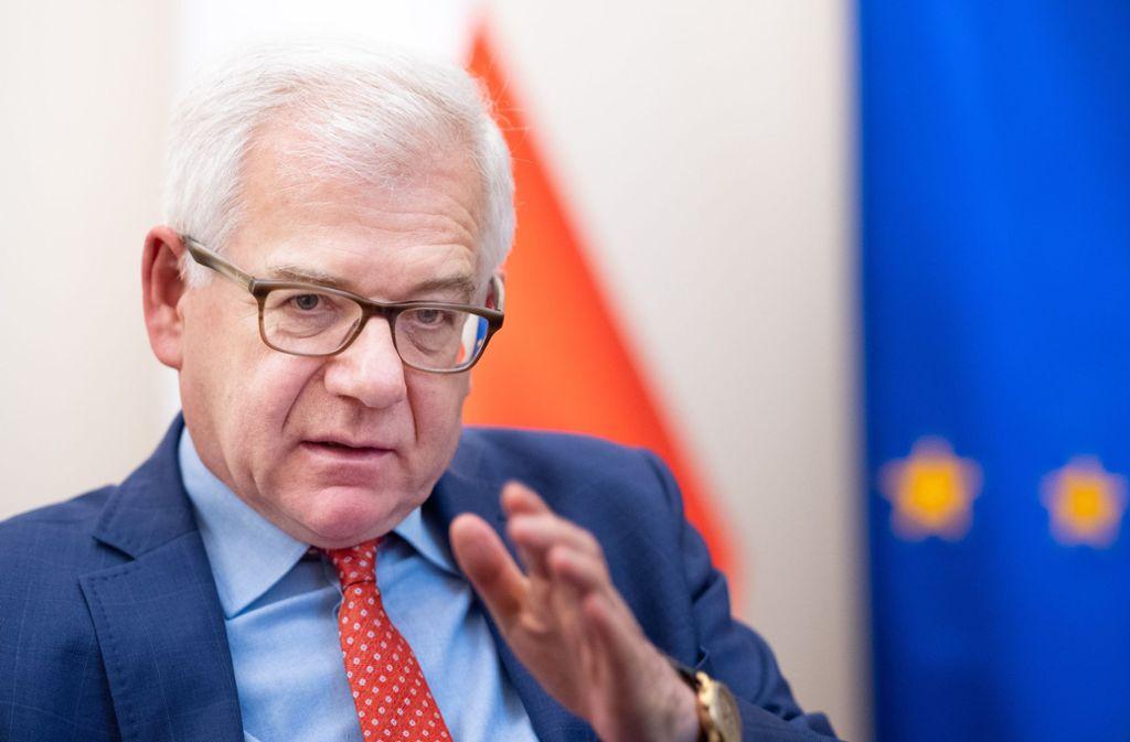 """Der polnische Außenminister Jacek Czaputowicz: """"Polen wurde diskriminiert."""" Foto: dpa"""