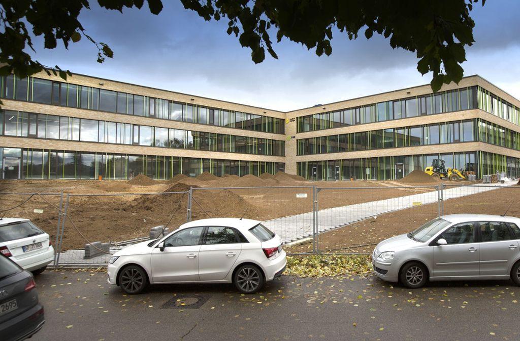 Der knapp 28 Millionen Euro teure Neubau der Albert-Schäffle-Schule in Nürtingen ist eines der großen Bauvorhaben, die der Landkreis stemmt. Foto: Pressefoto Horst Rudel/Horst Rudel
