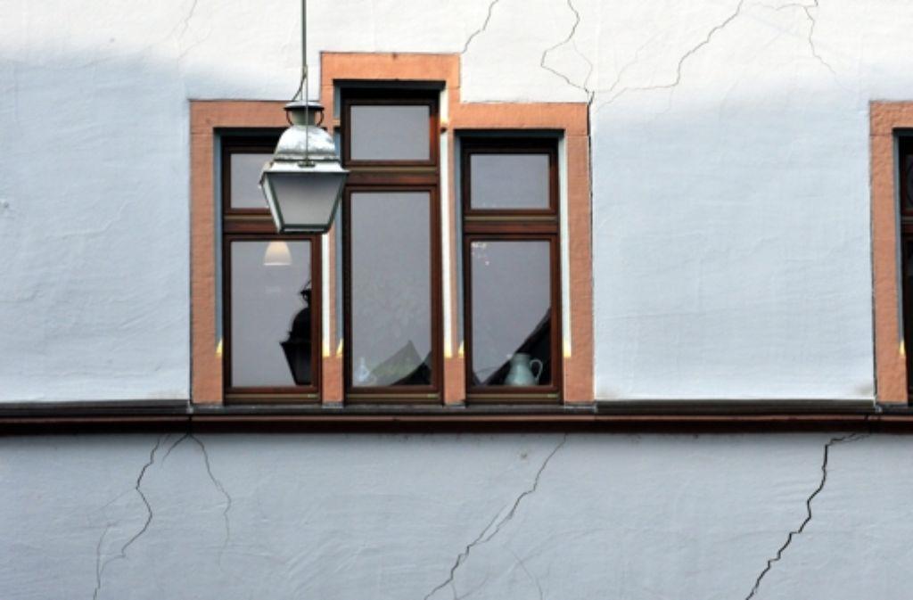 Auch in Staufen im Hochschwarzwald führten die Bohrungen zu Rissen in Häusern. Foto: dpa