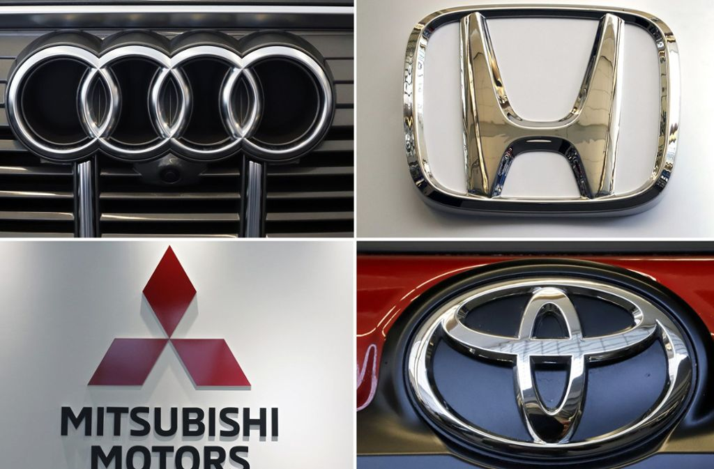 Gegen die Autobauer Audi, Toyota, Honda und Mitsubishi wurden Ermittlungen eingeleitet. Foto: AP