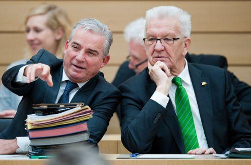 Diskussion mit Kretschmann und Strobl