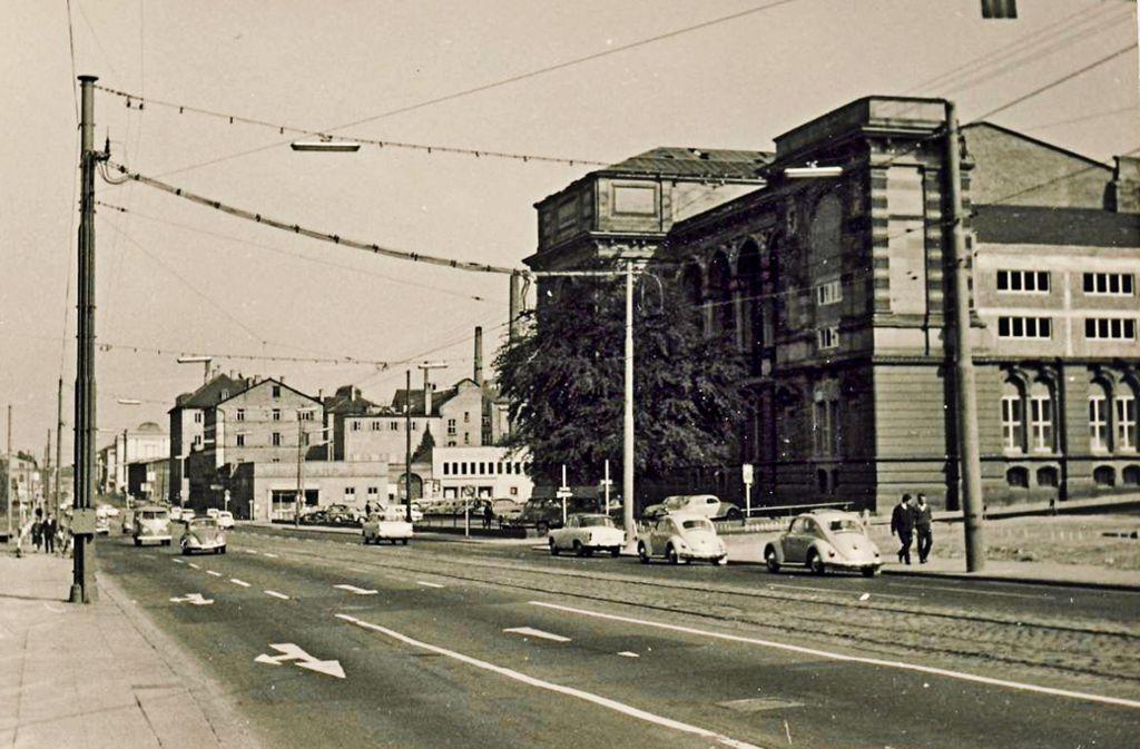 Die alte  Landesbibliothek in den 1960er Jahren. Foto: Kurt Däß