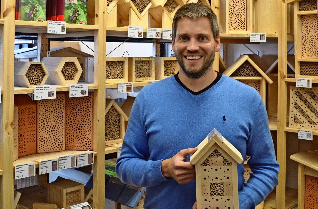 Markus Lohmüller engagiert sich insbesondere für Wildbienen. Foto: Sandra Hintermayr