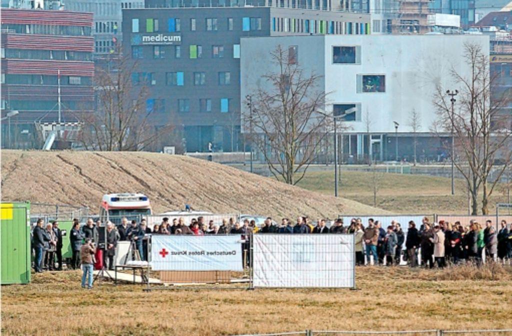 Unweit des Ärztehauses Meentsteht die neue DRK-Zentrale. Foto: factum/Granville