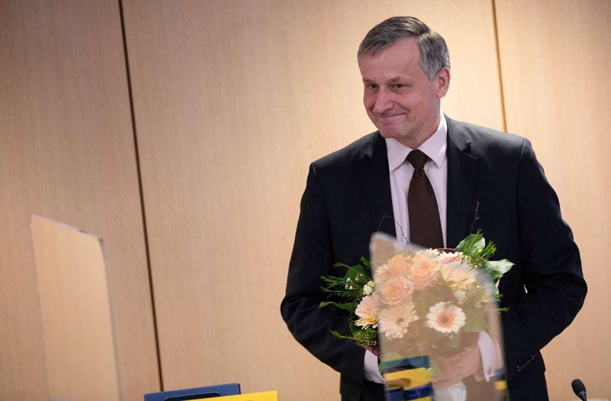Hans-Ulrich Rülke ist am Dienstag als FDP-Fraktionschef bestätigt worden. Foto: dpa/Christoph Schmidt