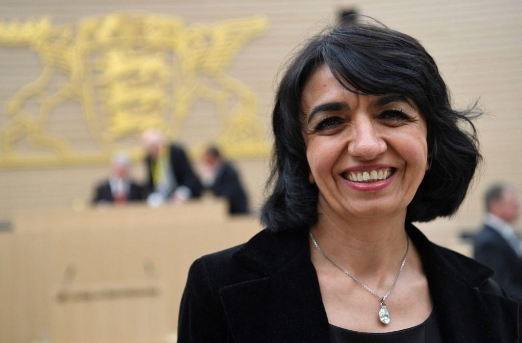 Die Grünen-Abgeordnete Muhterem Aras wurde zur neuen Landtagspräsidentin gewählt. Foto: dpa