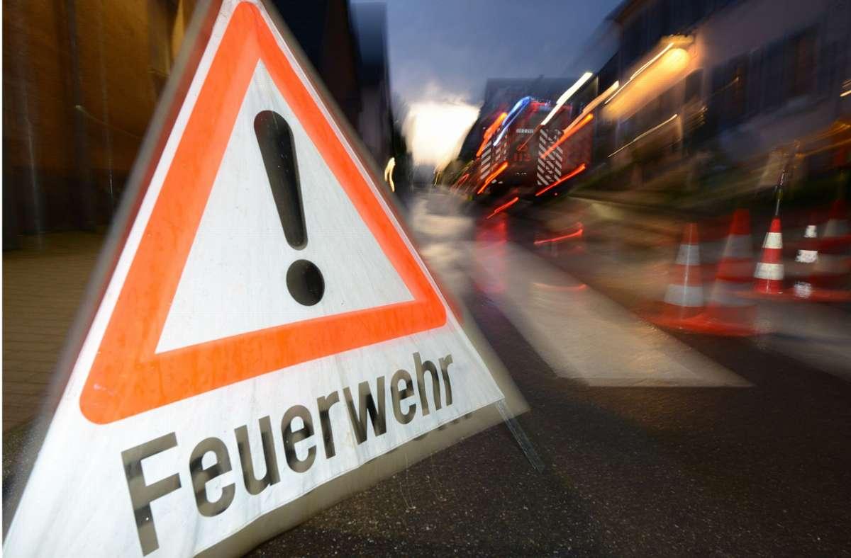 Die Feuerwehr war in Kornwestheim im Einsatz. Foto: dpa/Patrick Seeger