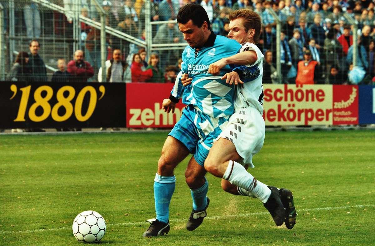 Ralf Vollmer bestritt 359 Pflichtspiele für die Stuttgarter Kickers und ist damit der Rekordspieler der Blauen. Foto: Pressefoto Baumann