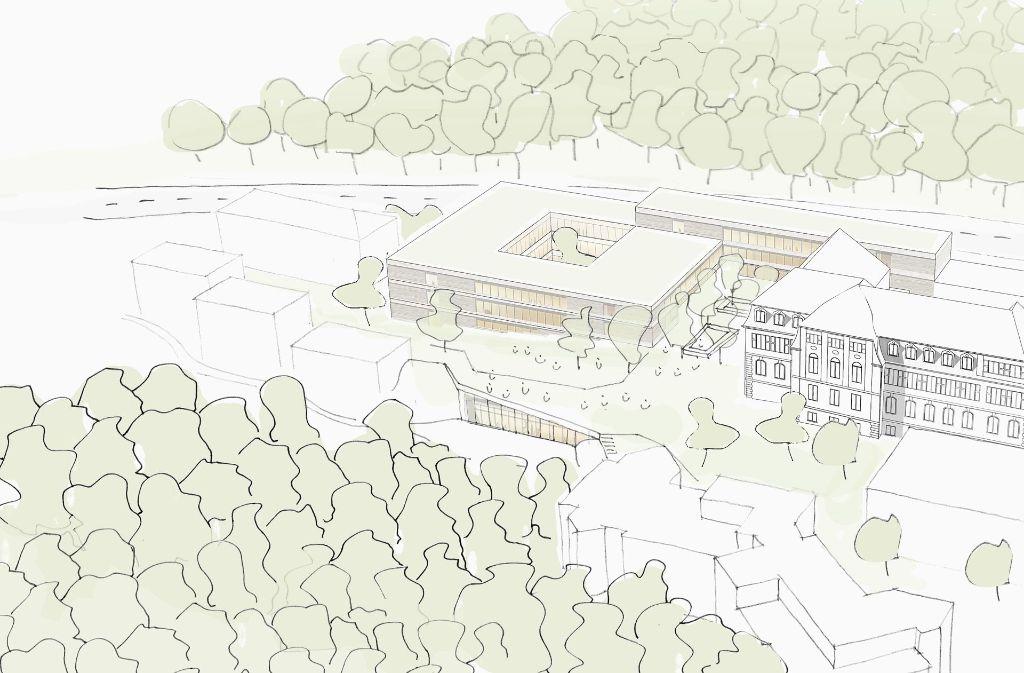 So können sich die Architekten die Erweiterung der Schule vorstellen. Foto: Birk Heilmeyer und Frenzel Architekten