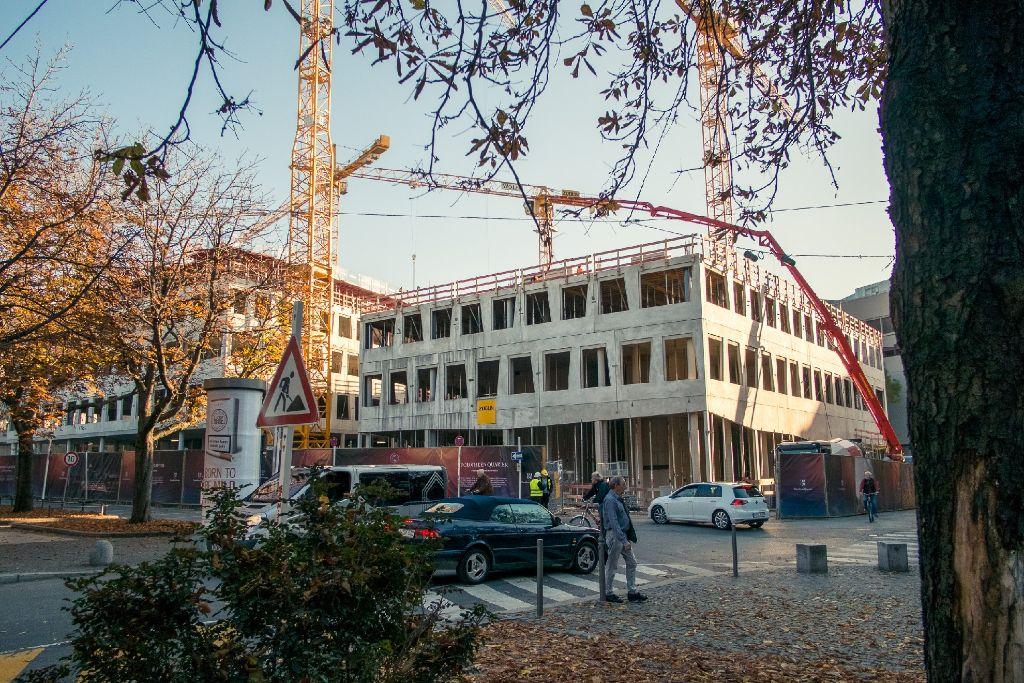 Das Dorotheenquartier in Stuttgart wächst in die Höhe.  Foto: www.7aktuell.de | Florian Gerlach
