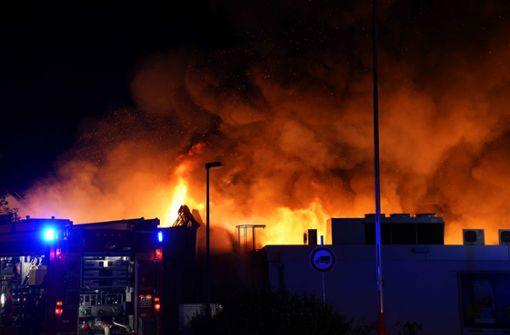 Lidl-Filiale brennt komplett ab