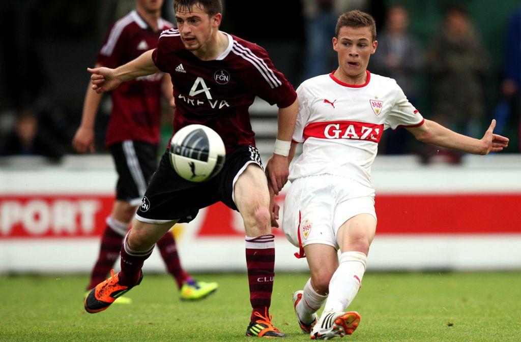 Einer der bekanntesten, die beim VfB einst ihre Spielerkarrieren starteten: Der damalige B-Jugendliche Joshua Kimmich (re.). Foto: Baumann