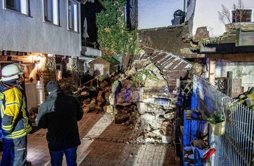Terrasse von Wohnhaus in Grafenau abgerutscht