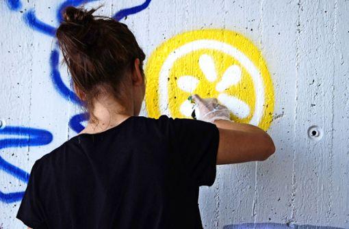 Höhlenmalerei im Stil von Banksy